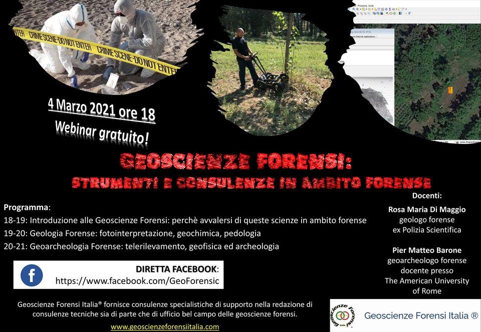 Webinar Geoscienze forensi